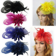 Hairpin Clip Fascinator Flower Feather Hair band Women Hair Accessories