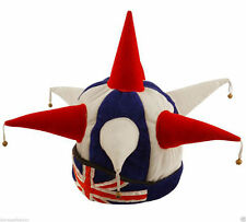 Unisex Rugby World Cup Union Jack England Jester Hat With Bells