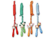 Wooden Handle Animal Skipping Rope Jump Game Toy Gift Party Colourful Cartoon