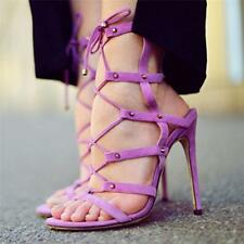 Womens High Heel Sandals Strappy Gladiator Stiletto Pumps open toe chic Shoes SZ