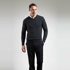 GLENMUIR LOMOND MENS CLASSIC V-NECK LAMBSWOOL GOLF SWEATER [22 COLOURS]