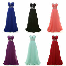 Sweetheart New Long Chiffon Prom Dresses A line Formal Evening Party Prom Gown