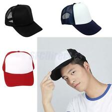 Boys Girls Plain Caps Mesh Visor Hat Baseball Cap Unisex Blank Curved Hats