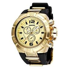 Fashion Big Dail Men's Watch Silicone Strap Sports Quartz Wristwatch SHHORS D2Q6