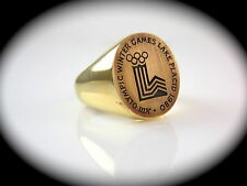 Cartier 1980 Olympic Winter Games Lake Placid Ring 18kt Yellow Gold