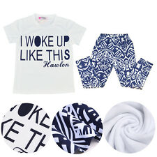 2Pcs Baby Newborn Girls Letter Princess T-Shirts +Pants Trousers Outfits & Sets