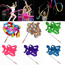 4M Dance Ribbon Gym Rhythmic Art Gymnastic Ballet Streamer Twirling Rod 10 Color