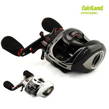 Right hand 10BB low profile baitcasting reel 5.1:1 baitcaster wheels white/black