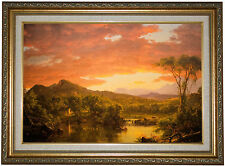 'A Country Home' by Frederick Edwin Church Framed Painting Print