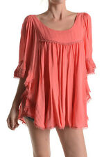 2 Sweet Bohemian Oversized Coral Top Blouse Plus Sizes 14 to 20 CURVED BY NATURE