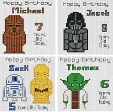 Counted Cross Stitch Personalised Greeting Card Kits - Starwars