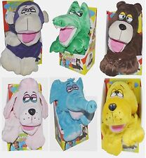 Soft Snuggle Animal Hand Puppets Blankets Plush Cuddle Fleece Pets For Kids Fun