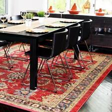 Red Brown Floral Vines Area Rug Bordered Traditional Oriental Carpet