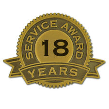 18 Years of Service Award Lapel Pin