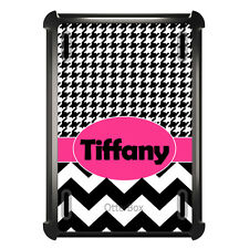 Monogrammed OtterBox Defender for ipad Mini / Air Pink Black White Houndstooth