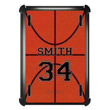 Monogrammed OtterBox Defender for ipad Mini / Air Basketball Black Number Name