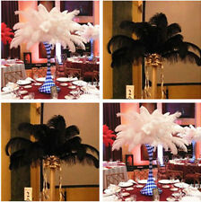 Wholesale 10-200PCS White/Black OSTRICH FEATHERS 12-18inches/30-45cm wedding