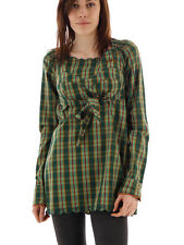 Blutsschwester Tunic Long Blouse Puppet Corselet Tunique green checkered