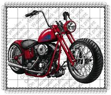 Motorcycle Birthday ~ Frosting Sheet Cake Topper ~ Edible Image ~ D136