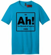 Ah The Element Of Surprise Funny Mens V-Neck T Shirt Science Periodic Table Nerd