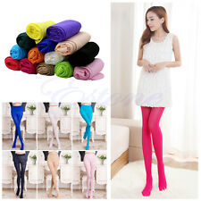 Women Fashion Candy Colors Opaque Footed Socks Tights Pantyhose Slim Stockings