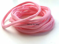 50 Pieces - Wholesale Nylon Headbands Pink One Size Toddler -Adult 8mm 30-34 cm