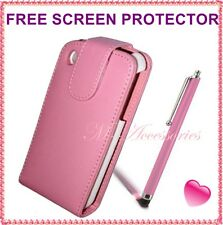 BABY/LIGHT PINK FLIP PU LEATHER CASE COVER POUCH FOR ALL MAJOR MOBILE PHONES