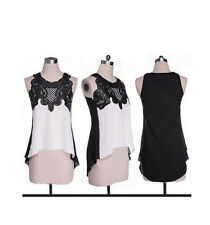 Casual Women's Loose Chiffon Sleeveless Blouse Vest Tops T-Shirt Ladies