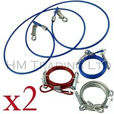 2 Pack Set Dog Leash 6Ft Cable Tie Out Extention Lead Secure Wire Pet Puppy