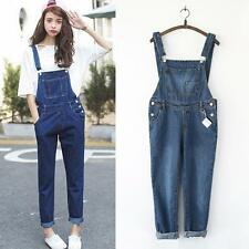 Womens Fashion Maternity Jeans suspender trousers Maternity Pants Clothes Size
