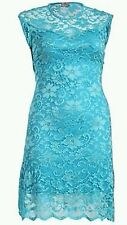 BNWT Praslin Gorgeous TURQUOISE  Ladies LACE fully LINED DRESS size 16-26 rrp£40