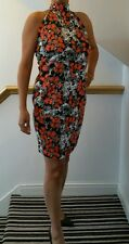 BNWT Gorgeous ladies PRASLIN floral HALTERNECK dress 16-26 with extra stretch