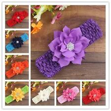 Newborn Baby Girls Infant Flower Decor Headband Party Wedding Hair Band Headwear