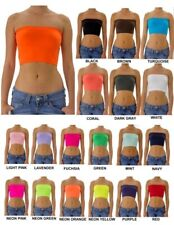 Strapless Tube Top Bra Bandeau Stretch Seamless Workout Sport Cropped Mini Hot T