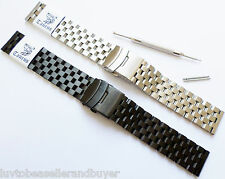 TAURUS HEAVY SOLID SS SUPER ENGINEER DIVER'S WATCH BAND BRACELET 22mm FOR SEIKO
