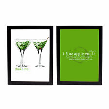 Positively Home Double Appletini 2 Pieces Framed Graphic Art Set