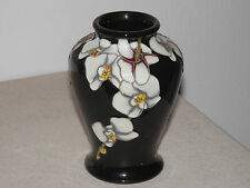 MOORCROFT MOTH ORCHID FLOWER VASE 22/3 BY ANJI DAVENPORT 3.5 INCH RETAIL £295