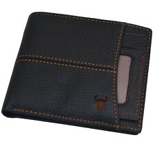 New Mens Leather Wallets ID Photo Holders Credit Card Wallet Full Zipper Pocket