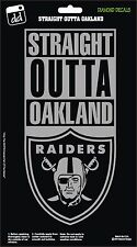 Oakland Raiders St8 Outta Oakland NFL Football Vinyl Decal Car Window Sticker