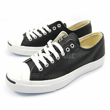 Converse Mens Womens Jack Purcell LTT Leather Black White Classic Sneakers 1S962