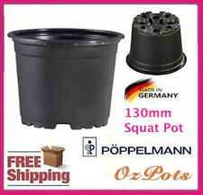 130mm Squat Plastic Garden Round Plant Pots / Propagation - Made in Germany VCG