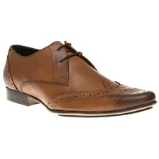 New Mens Ben Sherman Tan Myas Brogue Leather Shoes Lace Up