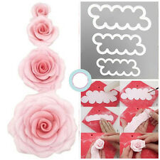 New 3D Rose Flower Cutter Mold Sugarcraft Fondant Cake Maker Decorating Tools