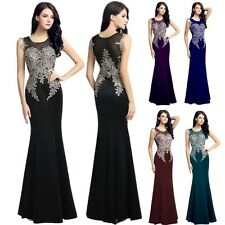New Beaded Evening Party Formal Womens Dresses Long Wedding Prom Mermaid Gown 14