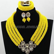 Multicolor Crystal Beads Jewelry Sets Fashion Women Wedding Bridal Gift Jewelry