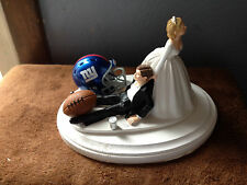New York Giants Cake Topper Bride Groom Wedding day Funny Football Theme
