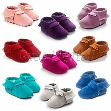 Newborn Scrub Tassel Baby Kid Shoes Toddler Infant Boy Girls Soft Sole Moccasins