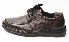 Mens Lace Brown Comfort Loafers Sneaker Casual Dress Formal Leather Shoes