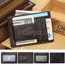 New Mens Genuine Slim Wallet Cash Credit ID Card Holder with Magnetic Money Clip