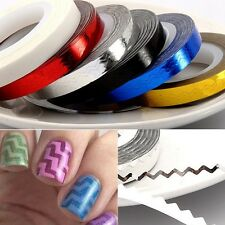 2pcs Rolls Waves Striping Tape Line DIY Nail Art Tips Decor Sticker Decals Wraps